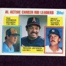 1984 Topps Baseball #713 AL Active Career RBI Leaders Reggie Jackson / Ted Simmons / Graig Nettles