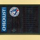 1995 Score Baseball Gold Rush #330 Team Checklist St. Louis Cardinals / Toronto Blue Jays
