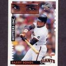 1995 Score Baseball #562 Barry Bonds HIT - San Francisco Giants