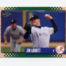 1995 Score Baseball #452 Jim Abbott - New York Yankees