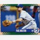 1995 Score Baseball #247 Paul Molitor - Toronto Blue Jays