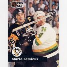 1991-92 Pro Set French Hockey #194 Mario Lemieux - Pittsburgh Penguins
