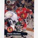 1991-92 Pro Set French Hockey #048 Chris Chelios - Chicago Blackhawks