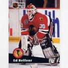 1991-92 Pro Set French Hockey #043 Ed Belfour - Chicago Blackhawks