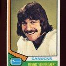 1974-75 Topps Hockey #207 Dennis Ververgaert RC - Vancouver Canucks