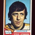 1974-75 Topps Hockey #192 Steve Atkinson - Washington Capitals