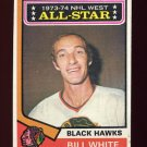 1974-75 Topps Hockey #136 Bill White AS - Chicago Blackhawks
