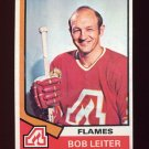 1974-75 Topps Hockey #051 Bob Leiter - Atlanta Flames