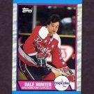 1989-90 Topps Hockey #076 Dale Hunter - Washington Capitals