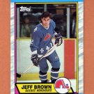1989-90 Topps Hockey #028 Jeff Brown - Quebec Nordiques