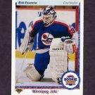 1990-91 Upper Deck Hockey #337 Bob Essensa ART - Winnipeg Jets