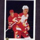 1990-91 Upper Deck Hockey #319 Al MacInnis Team Checklist - Calgary Flames