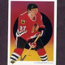 1990-91 Upper Deck Hockey #316 Jeremy Roenick Team Checklist - Chicago Blackhawks