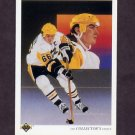 1990-91 Upper Deck Hockey #305 Mario Lemieux Team Checklist - Pittsburgh Penguins