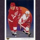 1990-91 Upper Deck Hockey #303 Steve Yzerman Team Checklist - Detroit Red Wings