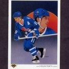 1990-91 Upper Deck Hockey #301 Joe Sakic Team Checklist - Quebec Nordiques