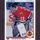 1990-91 Upper Deck Hockey #213 Greg Millen - Chicago Blackhawks
