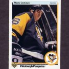 1990-91 Upper Deck Hockey #144 Mario Lemieux - Pittsburgh Penguins