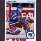 1990-91 Upper Deck Hockey #032 Mike Richter RC - New York Rangers
