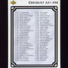 1992-93 Upper Deck Hockey #390 Checklist 331-440