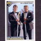1992-93 Upper Deck Hockey #036 Joe Sakic / Brian Sakic / BL
