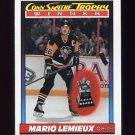 1991-92 O-Pee-Chee Hockey #523 Conn Smythe Trophy / Mario Lemieux - Pittsburgh Penguins