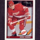 1991-92 O-Pee-Chee Hockey #401 Sergei Fedorov - Detroit Red Wings
