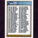1991-92 O-Pee-Chee Hockey #396 Checklist 265-396