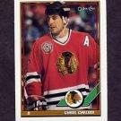 1991-92 O-Pee-Chee Hockey #233 Chris Chelios - Chicago Blackhawks
