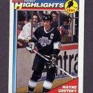 1991-92 O-Pee-Chee Hockey #201 Wayne Gretzky HL - Los Angeles Kings