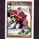 1991-92 O-Pee-Chee Hockey #020 Ed Belfour - Chicago Blackhawks