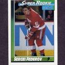 1991-92 O-Pee-Chee Hockey #008 Sergei Fedorov SR - Detroit Red Wings