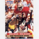 1991 Pro Set Football #295 John Taylor - San Francisco 49ers AUTO