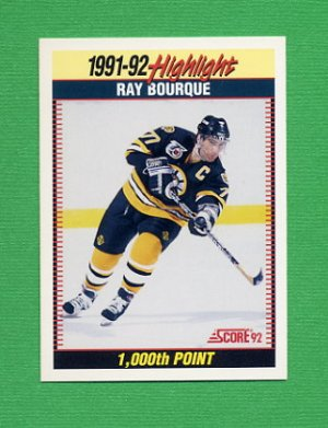 1992-93 Score Hockey #447 Ray Bourque SH - Boston Bruins