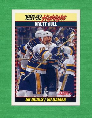 1992-93 Score Hockey #442 Brett Hull HL - St. Louis Blues