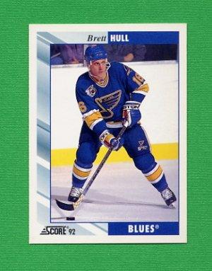 1992-93 Score Hockey #350 Brett Hull - St. Louis Blues