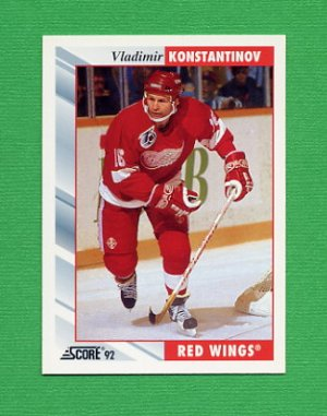1992-93 Score Hockey #031 Vladimir Konstantinov - Detroit Red Wings