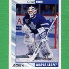 1992-93 Score Hockey #020 Grant Fuhr - Toronto Maple Leafs
