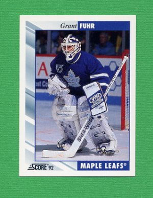 1992-93 Score Hockey #020 Grant Fuhr - Toronto Maple Leafs