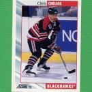 1992-93 Score Hockey #002 Chris Chelios - Chicago Blackhawks
