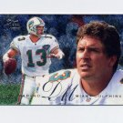 1995 Fleer Football Flair Preview #18 Dan Marino - Miami Dolphins Ex