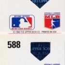 1991 Upper Deck Baseball #588 Rich Gedman - Houston Astros Regular and Variation Holograms