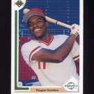 1991 Upper Deck Baseball #071 Reggie Sanders RC - Cincinnati Reds