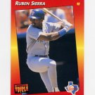 1992 Donruss Triple Play Baseball #238 Ruben Sierra - Texas Rangers
