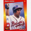 1992 Donruss Triple Play Baseball #217 David Justice - Atlanta Braves