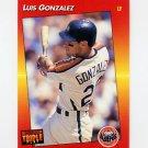 1992 Donruss Triple Play Baseball #210 Luis Gonzalez - Houston Astros