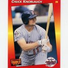 1992 Donruss Triple Play Baseball #171 Chuck Knoblauch - Minnesota Twins