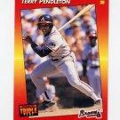 1992 Donruss Triple Play Baseball #139 Terry Pendleton - Atlanta Braves