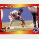 1992 Donruss Triple Play Baseball #117 Lou Whitaker - Detroit Tigers