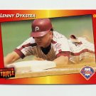 1992 Donruss Triple Play Baseball #094 Len Dykstra - Philadelphia Phillies